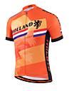 Miloto® Maillot de Cyclisme Femme Homme Enfant Unisexe Manches courtes VeloRespirable Sechage rapide Zip frontal Zipper YKK Bandes