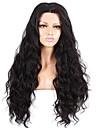 evawigs 16-26 \'\' vague de vague naturelle de cheveux remy brazilian pleine perruque de dentelle noire naturelle