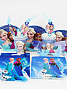 92pcs congeles decoration articles de fete de fete d\'anniversaire fete decorations enfants 12 personnes utilisent