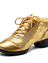 Chaussures de danse(Noir / Rouge / Or) -Non Personnalisables-Talon Bas-Similicuir-Baskets de Danse / Moderne
