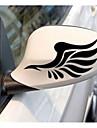 automobile retroviseur avec sourcil lumiere coller des autocollants reflechissants dans la voiture retroviseur avec des ailes
