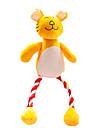 Katter / Hundar Husdjursleksaker Mjukdjur / Pipande leksaker / Tandrengöringsleksak Squeak Grön / Orange Plysh
