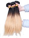 A Ombre Cheveux Peruviens Droit 12 mois 3 Pieces tissages de cheveux