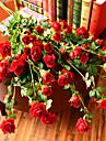 1 1 Une succursale Polyester / Plastique Roses Arbre de Noel Fleurs artificielles 47.24inch/120cm