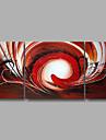 Peint a la main Abstrait / POP Peintures a l\'huile,Modern Trois Panneaux Toile Peinture a l\'huile Hang-peint For Decoration d\'interieur