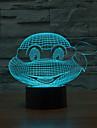 endurer dieu tortue contact gradation 3d conduit de lumiere de nuit lampe atmosphere decoration 7colorful eclairage nouveaute lumiere de