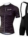 KEIYUEM® Cykeltröja med Bib-shorts Unisex Kort ärm CykelAndningsfunktion / Snabb tork / Damm säker / Bärbar / Svettavvisande /