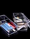 akryl kosmetiska organisatör makeup förvaringslåda plast akryl organisatör uppmätning