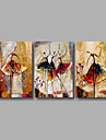 Stretched (Ready to hang) Hand-Painted Oil Painting Canvas Wall Art Modern Abstract Dance Girls Figure