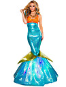Costumes de Cosplay Costume de Soiree Princesse Sirene Conte de Fee Fete / Celebration Deguisement Halloween Vert Orange Bleu Ciel Vintage