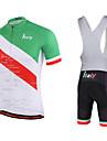 Miloto® Maillot et Cuissard a Bretelles de Cyclisme Homme Manches courtes VeloRespirable Sechage rapide Permeabilite a l\'humidite Zipper