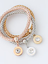 Brățări Bratari Wrap Aliaj Circle Shape La modă Nuntă Bijuterii Cadou Auriu / Roze / Argint,1set