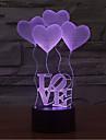 aiment toucher gradation 3d conduit de lumiere de nuit lampe atmosphere decoration 7colorful eclairage nouveaute lumiere de Noel