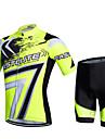 Fastcute® Maillot et Cuissard de Cyclisme Femme / Homme / Enfant / Unisexe Manches courtes VeloRespirable / Sechage rapide / Permeabilite