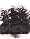 10\'\'-20\'\' Noir Tissee Main Ondulation naturelle Cheveux humains Fermeture Brun roux Dentelle Suisse 30-90g gramme Moyenne Cap Taille