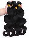 4 Pieces Ondulation naturelle Tissages de cheveux humains Cheveux Peruviens Tissages de cheveux humains Ondulation naturelle