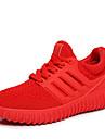 Svart Röd-Platt klack-Dam-Komfort-Tyll-Fritid-Sneakers