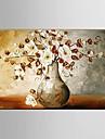 Peint a la main Abstrait Paysage Nature morte A fleurs/Botanique Fantaisie Peintures a l\'huile,Moderne Pastoral Style europeen Un Panneau