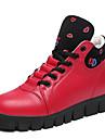 Homme-Decontracte-Noir / Rouge / Blanc-Talon Plat-Confort / Bout Arrondi / Bout Ferme-Chaussures a Talons-Similicuir