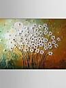 Peint a la main Abstrait / Nature morte / A fleurs/Botanique Peintures a l\'huile,Modern / Pastoral / Style europeen Un Panneau Toile