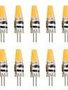 Gel de silice g4 led spotlight en cristal 1 mdr saphir 2w dc / ac12v 200-250lm blanc / blanc chaud (10pcs)