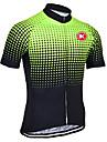 KEIYUEM® Pyöräily jersey Unisex Lyhyt hiha PyöräHengittävä / Nopea kuivuminen / Ultraviolettisäteilyn kestävä / Etuvetoketju /