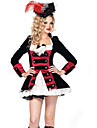 Costumes de Cosplay Pirate Cosplay de Film Noir Couleur Pleine Robe / Chapeau Halloween / Noel / Nouvel an Feminin Polyester