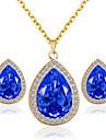 Bijuterii Coliere / Σκουλαρίκια Seturi de bijuterii de mireasă Nuntă / Petrecere 1set Dame Galben / Roșu / Albastru / Roz Cadouri de nunta