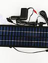 panneau solaire zdm® 3.5w 12v sortie de l\'adaptateur d\'alimentation du chargeur de voiture de silicium monocristallin (dc12-18v)