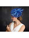 Women\'s Feather Tulle Flax Net Headpiece-Special Occasion Fascinators 1 Piece