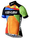 KEIYUEM® Cykeltröja Unisex Kort ärm CykelAndningsfunktion / Snabb tork / Ultraviolet Resistant / Dragkedja fram / Antistatisk / Back