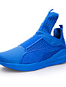 Svart / Blå / Röd / Vit-Platt klack-Herr-Komfort / Rund tå-PU-Sport-Sneakers