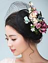 Femei Satin In Diadema-Nuntă Ocazie specială Pălărioare Pălării/Căciuli Voaluri Plasă 1 Bucată