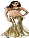 Costumes de Cosplay / Costume de Soiree Sirene / Conte de Fee Fete / Celebration Deguisement Halloween Dore / Rouge/noirCouleur Pleine /