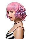 rose courte mode de cheveux boucles perruques perruques synthetiques