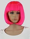 rosa hårfärgnings kvinnor korta bob perucas vågig cosplay sexig parti frisyr peruker rosa hårfärgningsmedel
