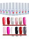 12 st / set gel polish lack uv gel UV-lampa nail art designs
