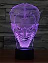 leende ansikte jack kontakt mörkläggning 3D LED nattlampa 7colorful dekoration atmosfär lampa nyhet belysning jul ljus