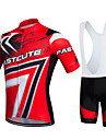 Fastcute® Cycling Jersey with Bib Shorts Women\'s / Men\'s / Kid\'s / Unisex Short Sleeve BikeBreathable / Quick Dry / Moisture Permeability