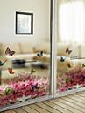 fereastră de film fereastră stil abțibilduri zboară fluturi în flowersn mată filmul de fereastră din PVC - (60 x 58) cm