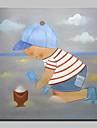 peint a la main peinture a l\'huile de bande dessinee moderne sur le mur de toile art images avec cadre etire pret a accrocher