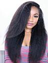 cheveux humains 8 a 24 pouces brazilian perruques dentelle glueless devant perruques droites crepus pour les femmes noires