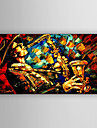 HANDMÅLAD Människor / Abstrakta landskap olje~~POS=TRUNC,Moderna En panel Kanvas Hang målad oljemålning For Hem-dekoration