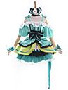Inspire par Aime la vie Kotori Minami Anime Costumes de cosplay Costumes Cosplay / Robes Mosaique Vert Manche CourtesRobe / Casque /
