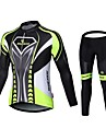 MALCIKLO® Maillot et Cuissard Long de Cyclisme Homme Manches longues VeloRespirable Sechage rapide Zip frontal Vestimentaire Haute