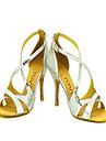 Chaussures de danse(Argent) -Personnalisables-Talon Aiguille-Similicuir-Latine Salon