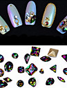 10pcs difformite couleur luxe art intrigue bijou clou decorations