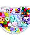 coeur et colore bricolage perles a la main costume enfants jouets educatifs collier cadeau