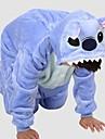 Kigurumi Pyjamas Leotard/Onesie Festival/Högtid Animal Sovplagg Halloween Blå Lappverk Polar Fleece Kigurumi För BarnHalloween / Jul /