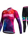 Miloto® Cykeltröja och tights Dam Unisex Lång ärm Cykel Andningsfunktion Snabb tork Fuktgenomtränglighet 3D Tablett Svettavvisande